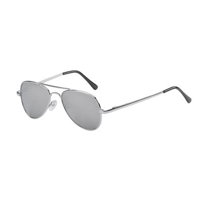 Frankie Ray Sunglasses 3 years+ Jet Metal Aviator Silver