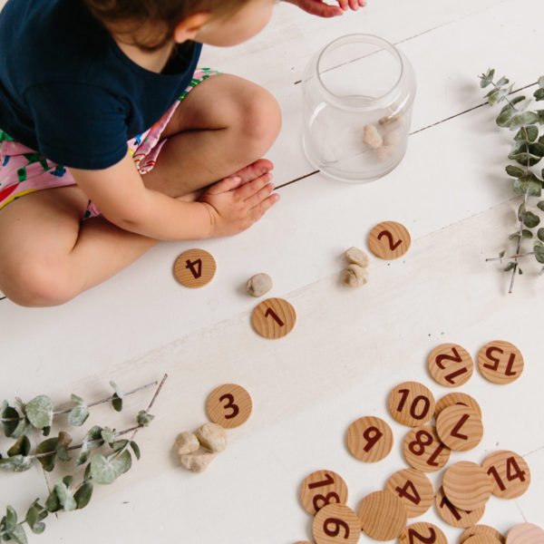 Freckled Frog Tactile Wooden Numbers Set
