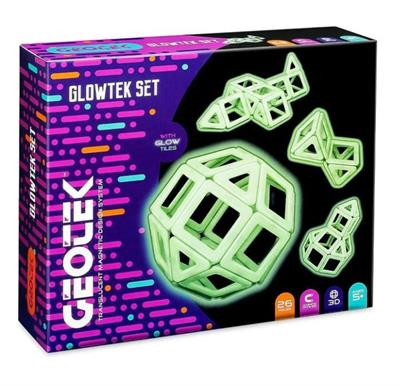 Geotek 3D Glowtek Magnetic Construction Set 26 Piece