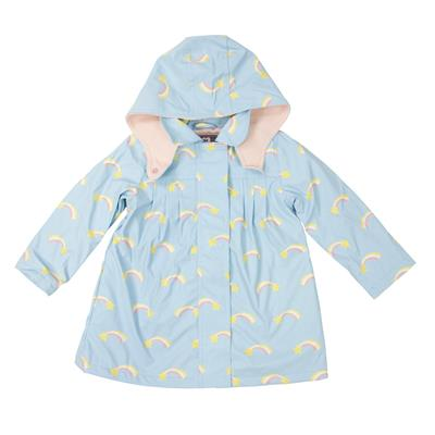 Girls Raincoat Shooting Star Blue