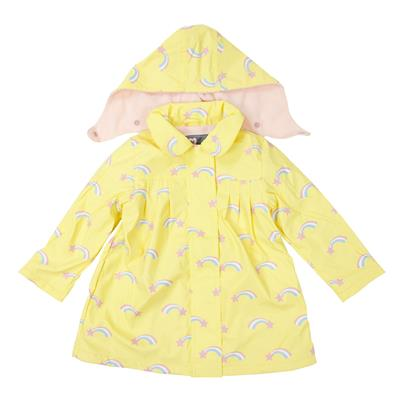Girls Raincoat Shooting Star Lemon