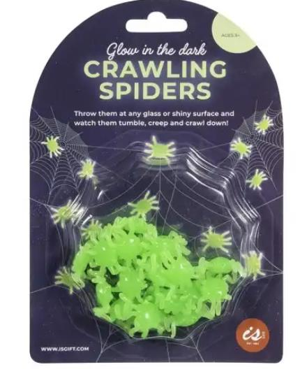 Glow in the Dark Crawling Spiders