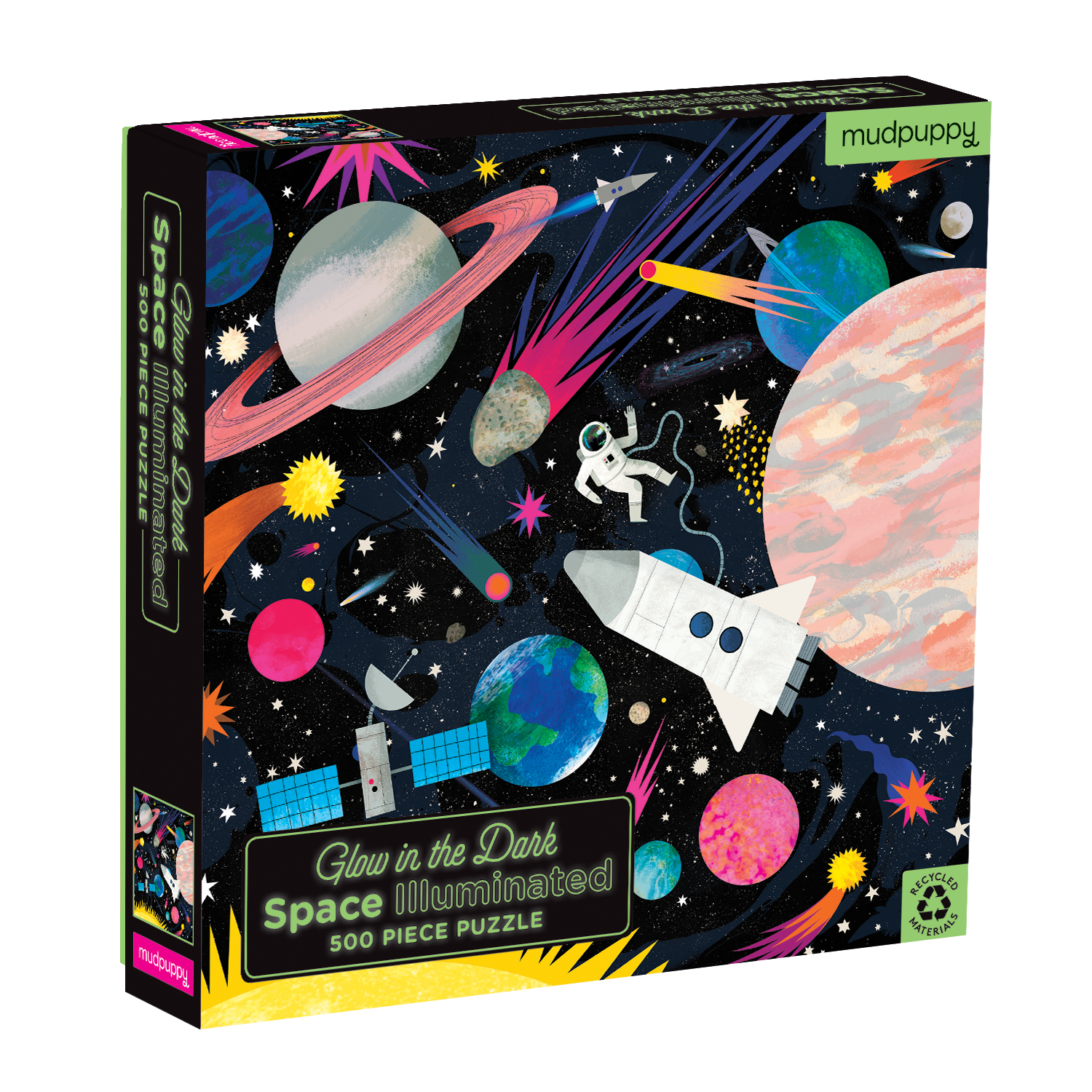 Glow in the Dark Space Puzzle 500pc