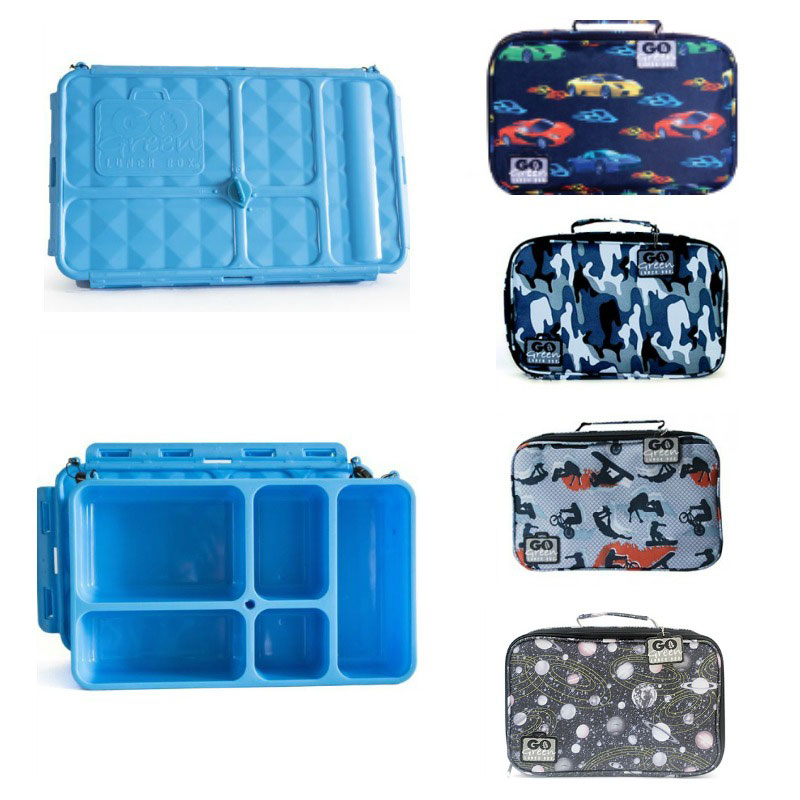 Go Green Lunch Box Set BLUE Container