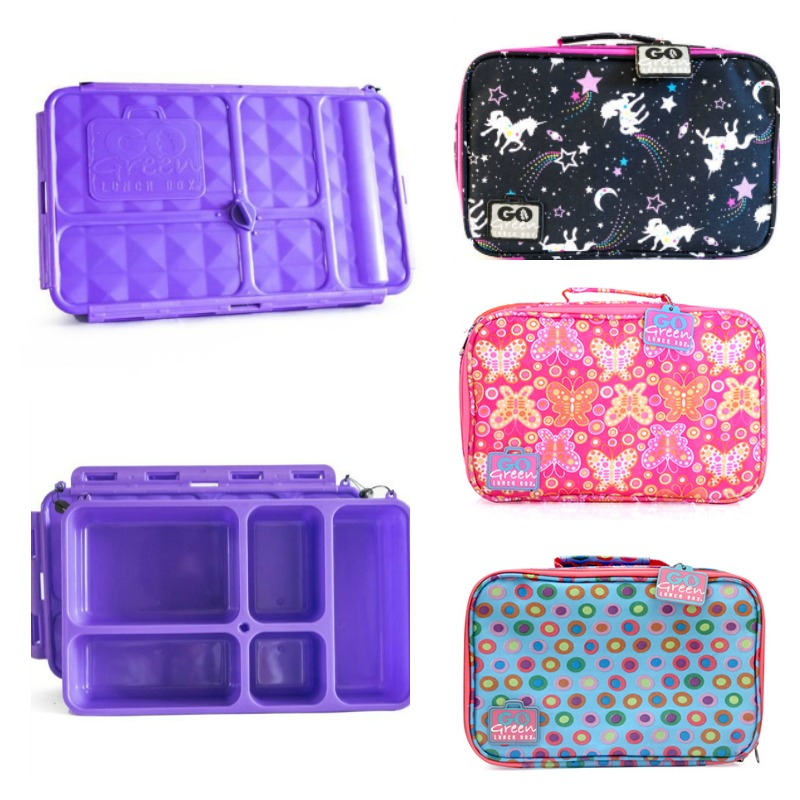 Go Green Lunch Box Set PURPLE Container