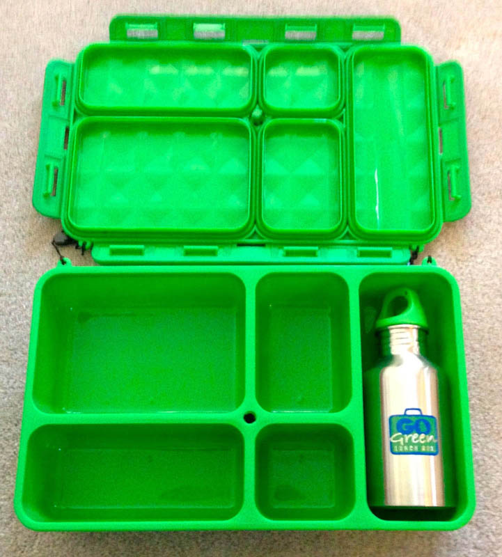 Inside shot of a Go Green LunchBox  (green Pictured)