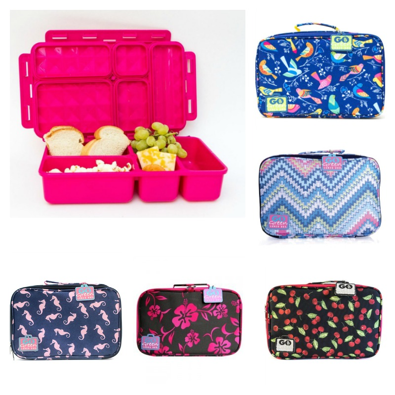 Go Green Lunchbox Sets - PINK container