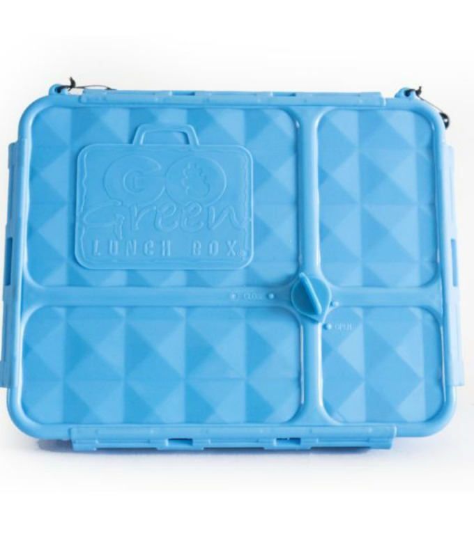 Go Green Medium Lunch Box BLUE