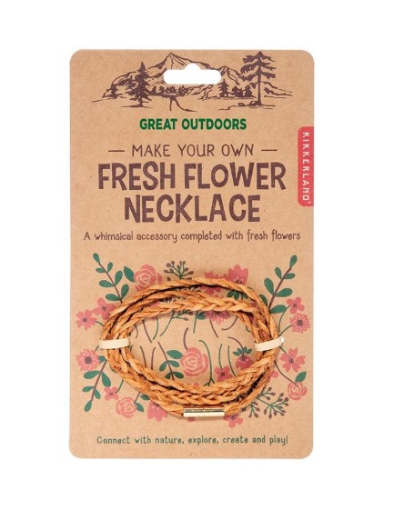 Make your own fresh flower necklace kit
