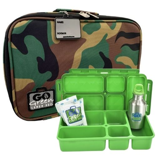 Green Camo Go Green Lunch Box Set