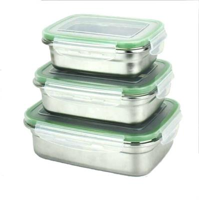 Green Essentials Snaps Stainless Steel Leak Proof Containers 3 pk