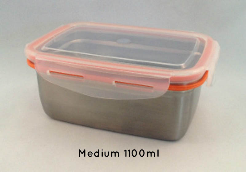 Green Essentials Snaps Stainless Steel Leak Proof Containers
