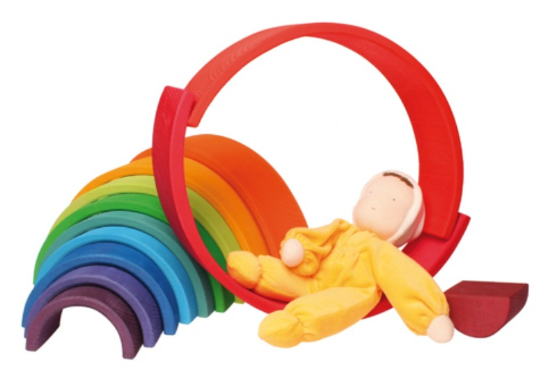 Grimm's Large Wooden Rainbow 12pcs