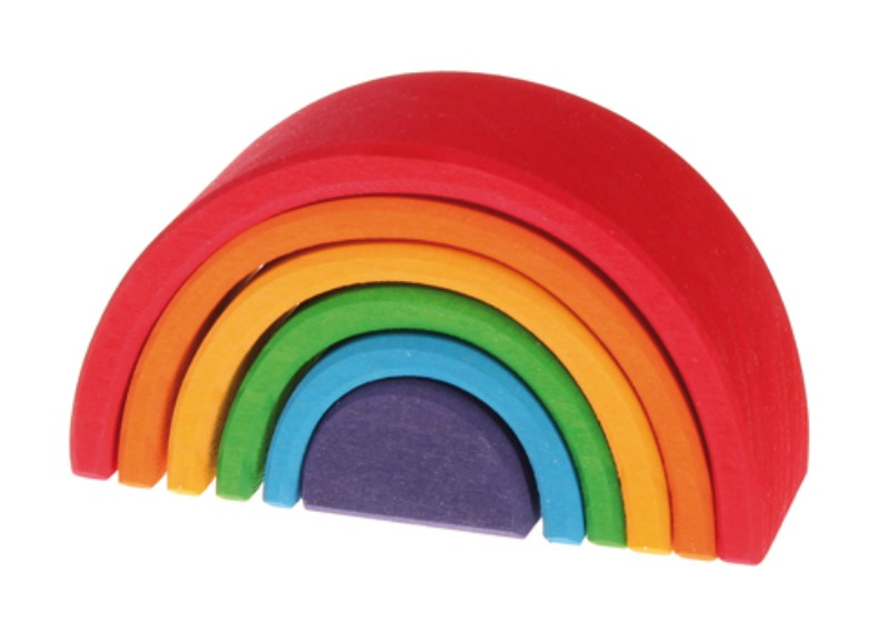 Grimm's Small Wooden Rainbow 6pcs