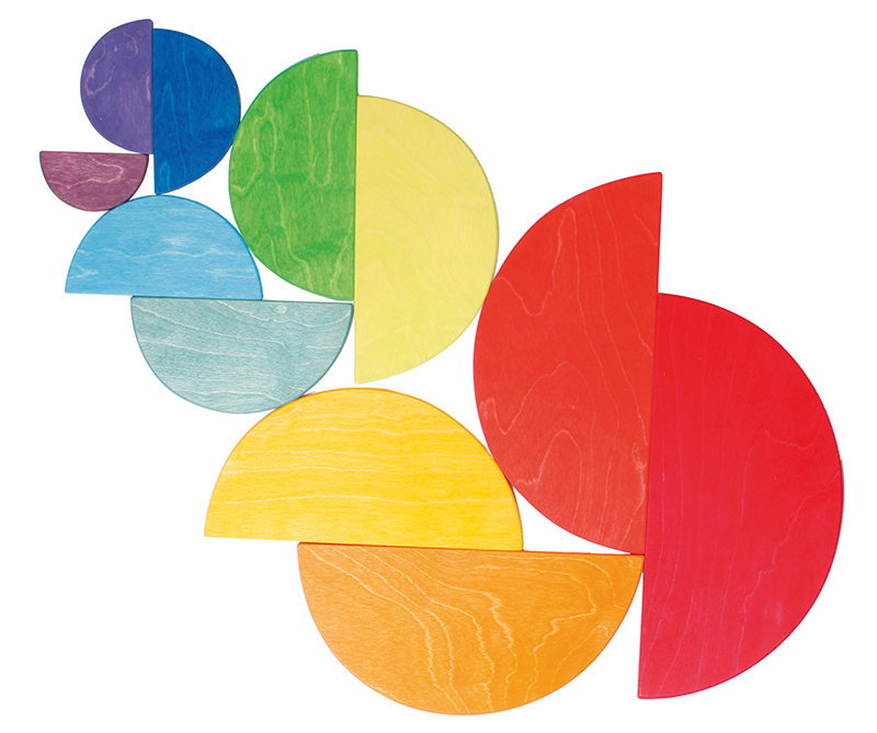 Grimm's Wooden Rainbow Semicircles 11pcs