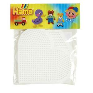 Hama Large Heart and Hexagonal Pegboard Set
