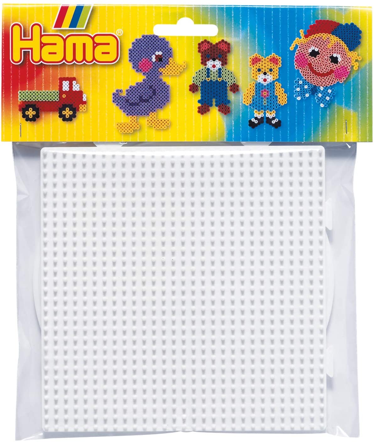 Hama Large Round and Square Pegboard Set