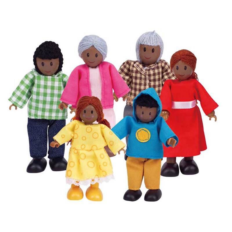 Hape African Family Doll Set of 6