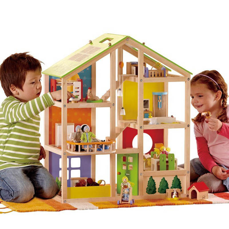Hape All Seaons Dolls House DELUXE Set FREE SHIPPING