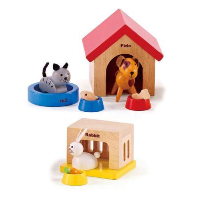 Hape All Seasons Dollhouse Family Pet Set