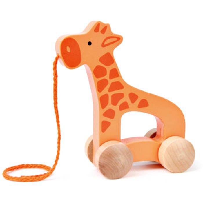 Hape-Baby Wooden Toys- Push and Pull Giraffe