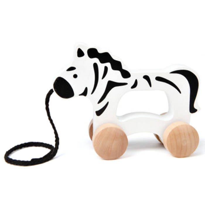 Hape-Baby Wooden Toys- Push and Pull Zebra