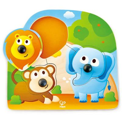 Hape Big Nose Jungle Peg Puzzle