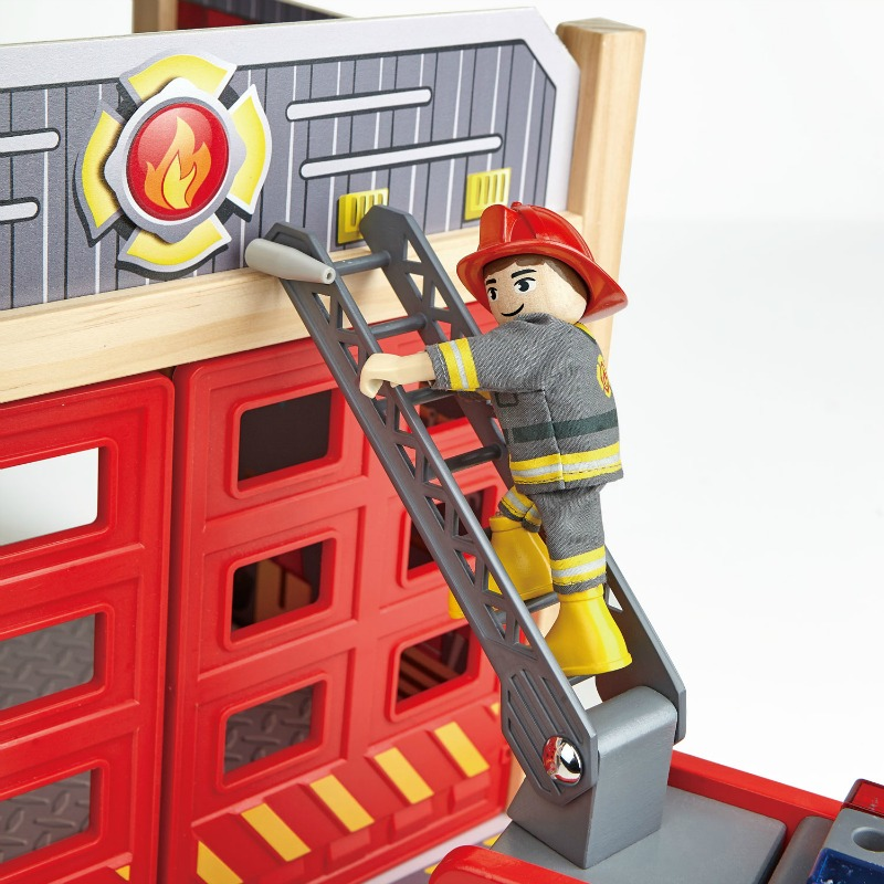Hape Fire Truck Rescue Team (City Fire Station sold separately)