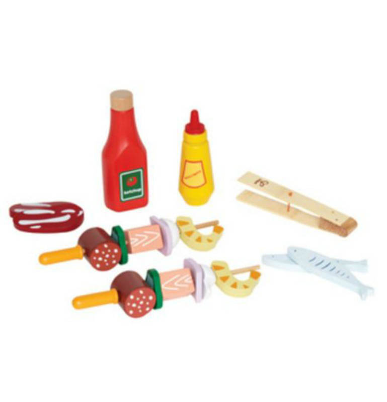 Hape-Gourmet Grill-Shishkabob basic-food and accessories-assembled