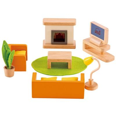 Hape All Seasons Dollhouse Media Room