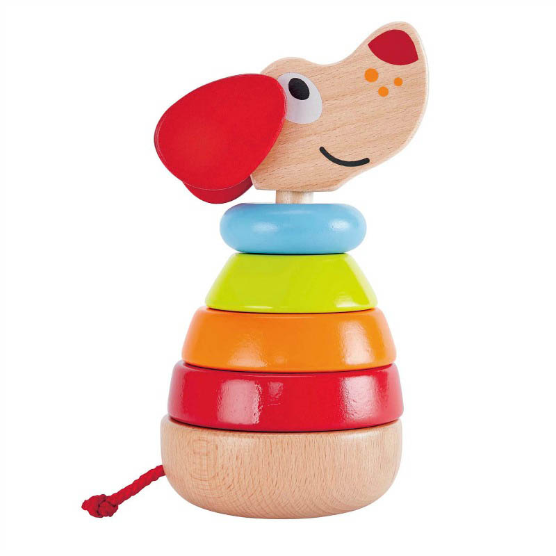 Hape - Pepe Rainbow Sound Stacker