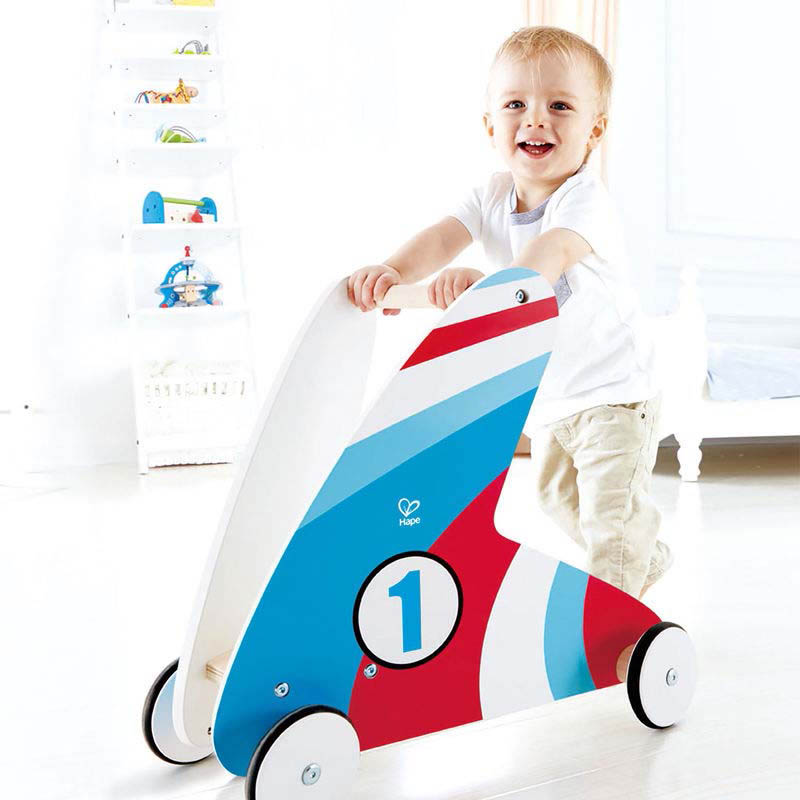Hape Step and Stroll Racing Stripes Walker