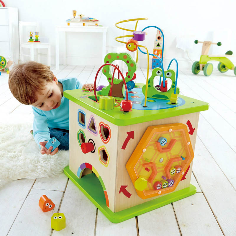 Hape-Wooden Baby Toys-Country Critter Play Cube