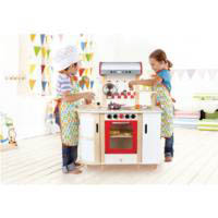 Hape  Wooden Multi Function Kitchen (not all accessories shown are included)