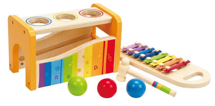 Wooden Musical Toys : Hape pound and tap musical bench