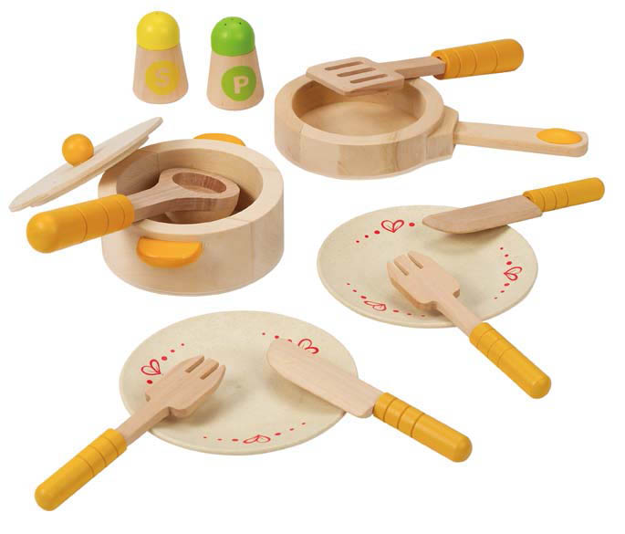 Hape-Wooden Toys-Gourmet Kitchen Starter Set