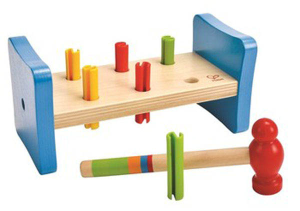 Hape - Wooden Toys - My First Peg Pounder