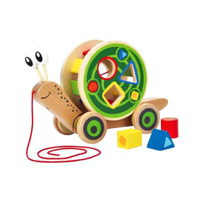Hape Pull and Play Shape Sorter Snail