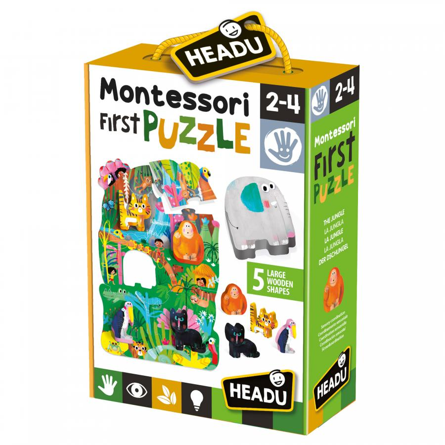 Headu Montessori First Puzzle The City | Kids First Puzzle