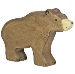 Holztiger Wooden Brown Bear