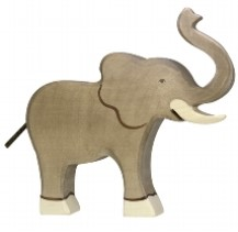 Holztiger Wooden Elephant Play Figurine