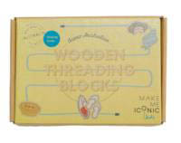 Iconic Toy Wooden Threading Blocks-Australia