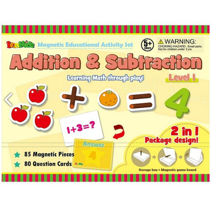 InaKids - Addition and Subtraction Magnetic Educational Activity Set