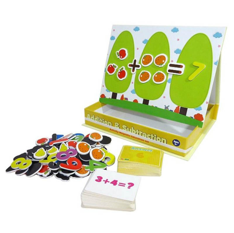 InaKids Addition and Subtraction Magnetic Educational Activity Set
