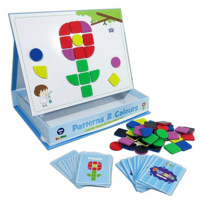 InaKids - Patterns and Colours Magnetic Educational Activity Set