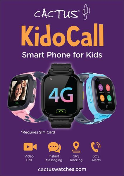 Introducing KidoCall...The safest and most functional smartwatch for your child!