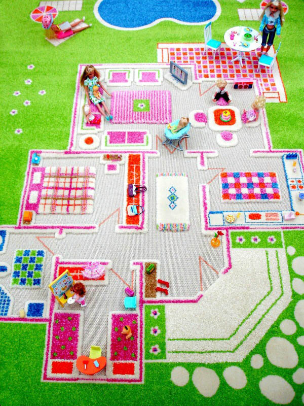 IVI 3D Play Rug-Playhouse Green-Large 100x200