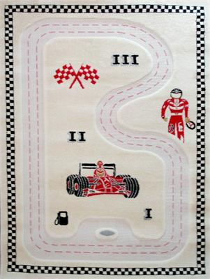 IVI 3D Play Rug Racer Cream 100x150