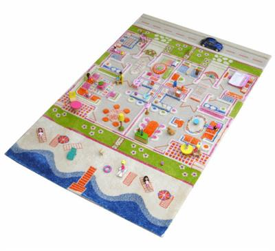 IVI 3D Play Rug Twin Houses 100x150