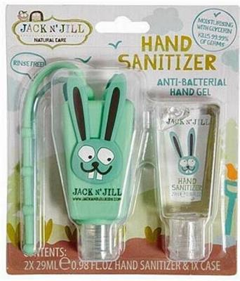 Jack N Jill Bunny Hand Sanitiser 2pk and Holder